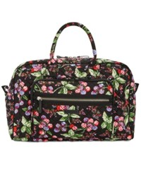 Vera Bradley Iconic Compact Extra Large Weekender Travel Bag Winter Berry