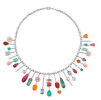 Irene Neuwirth White Gold Necklace Tourmaline Fire Opal Emerald Sapphire Cultured Pearls Aqua Carved Opal Pink Opal Fc Diamonds Multi