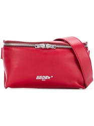 Golden Goose Deluxe Brand Logo Print Belt Bag Red