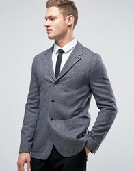 Ted Baker Slim Herringbone Blazer In Tweed 03 Charcoal Grey