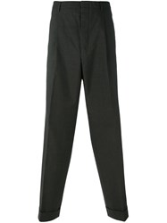 Romeo Gigli Vintage Straight Leg Trousers Brown