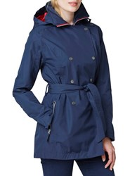 Helly Hansen Welsey Trench Rain Coat Evening Blue