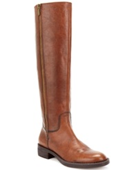 Enzo Angiolini Shobi Tall Boots Women's Shoes Cognac Leather