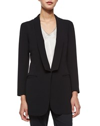 Atm Anthony Thomas Melillo Atm Soft Shawl Collar One Button Blazer Women's