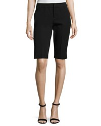Neiman Marcus Cotton Blend Walking Shorts Black