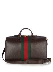 Gucci Grained Leather Holdall Brown Multi