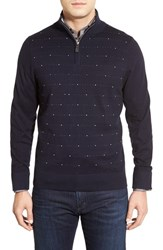 Men's Tailorbyrd Jacquard Quarter Zip Pullover Sweater