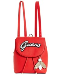 Guess Varsity Pop Pin Up Small Backpack Red