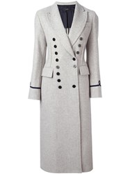 Joseph Double Breasted Coat Grey