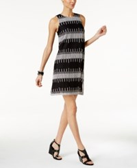 Alfani Petite Embroidered Shift Dress Only At Macy's Deep Black