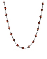 Rosary Bead Necklace With Tiger's Eye Red David Yurman