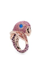 Kate Spade New York Tropical Paradise Statement Parrot Ring Pink Multi