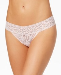Maidenform One Size Lace Thong 40118 Pink Pirouette
