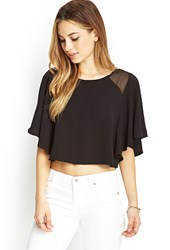 Forever 21 Flutter Sleeve Crop Top