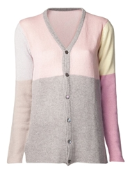 Lucien Pellat Finet Cashmere Colour Block Cardigan Multicolour