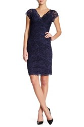 Marina Beaded Lace Bodycon Dress Blue