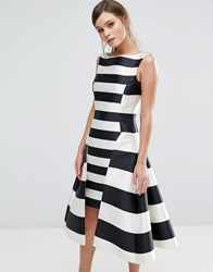 Coast Kady Dramatic Stripe Dress Multi