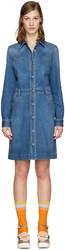 Stella Mccartney Blue Denim Shirt Dress