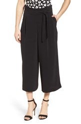 Anne Klein Belted Cropped Trousers Black
