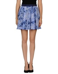 Guess Mini Skirts Sky Blue