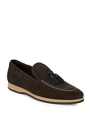 Canali Leather Loafers Brown