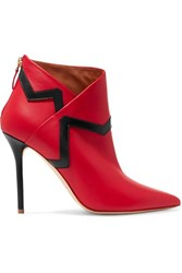 Malone Souliers Emanuel Ungaro Amelie Leather Ankle Boots Red