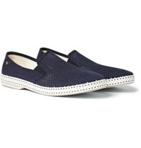 Rivieras Cotton Mesh And Canvas Espadrilles Navy