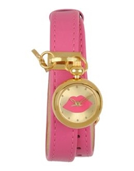 Lulu Guinness Wrist Watches Fuchsia