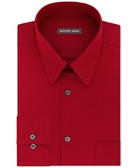 Geoffrey Beene Men's Classic Fit Wrinkle Free Bedford Cord Dress Shirt Red
