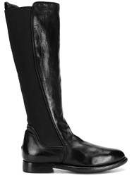 Silvano Sassetti Knee Length Fitted Boots Black