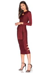 Lolitta Sophia Long Sleeve Bodycon Dress Burgundy
