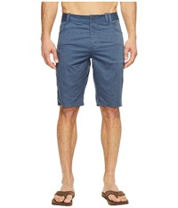 Nau Stretch Motil Five Pocket Shorts Space Heather Blue