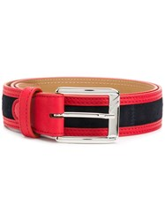 Moreschi Contrast Trim Belt Red