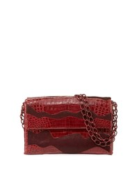 Nancy Gonzalez Madison Double Chain Medium Shoulder Bag Burgundy