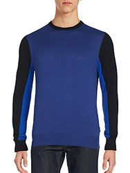 Michael Kors Colorblocked Crewneck Sweater Bright Navy