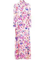 Natasha Zinko Floral Printed Maxi Dress Nude And Neutrals