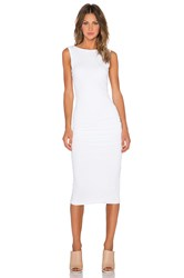 James Perse Open Back Skinny Dress White