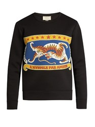 Gucci Circus Print Cotton Sweatshirt Black Multi