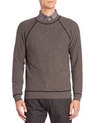 Luciano Barbera Crewneck Long Sleeve Sweater Grey