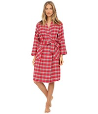 Jockey Flannel Robe Chalet Plaid Women's Robe Red