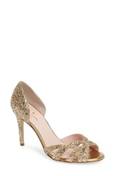 Kate Spade Women's New York Idaya Pump Gold Glitter