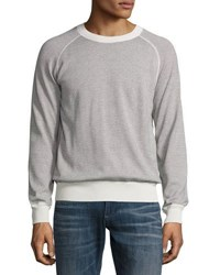 Billy Reid Striped Crewneck Sweater Beige