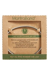 Mantraband Women's Not All Who Wander Are Lost Engraved Cuff Silver