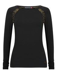 Elle Sport Sleek Long Sleeved Performance Top Black
