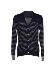 Sacai Knitwear Cardigans Men Dark Blue