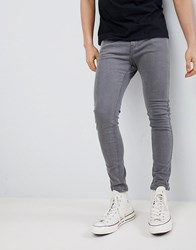 Bershka Super Skinny Fit Jeans In Grey