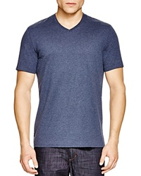 The Men's Store At Bloomingdale's Pima Cotton V Neck Tee Medium Heather Blue