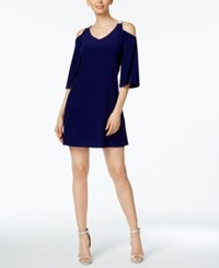 Msk Embellished Cold Shoulder Dress Midnight