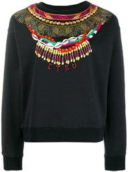 Etro Necklace Print Sweatshirt Black