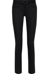 Joseph Woman Cloud Mid Rise Skinny Jeans Black